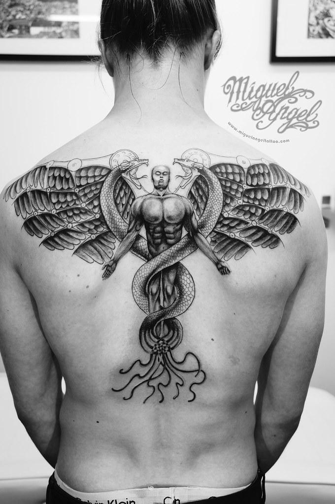 custom steampunk guardian angel tattoo miguel angel custom flickr. Black Bedroom Furniture Sets. Home Design Ideas