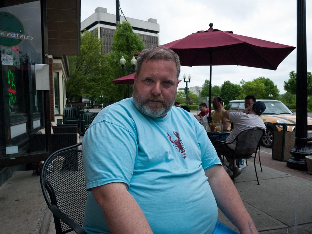 Jim modeling at Bear Albany Brunch