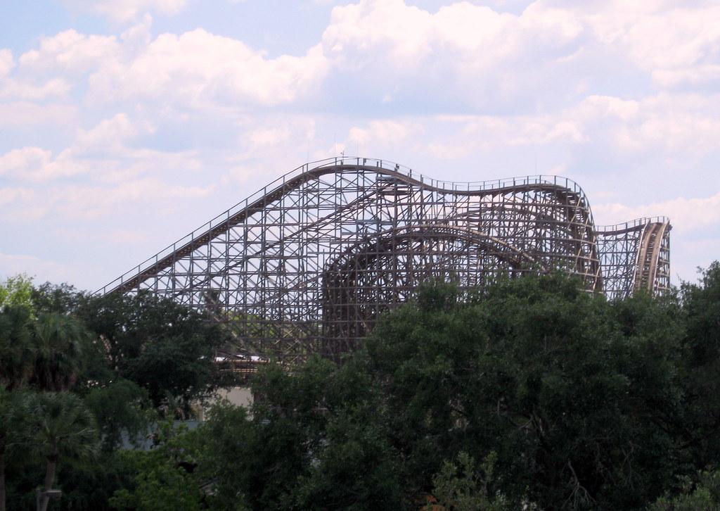 Busch Gardens Skyride View Of Gwazi Roller Coaster 2