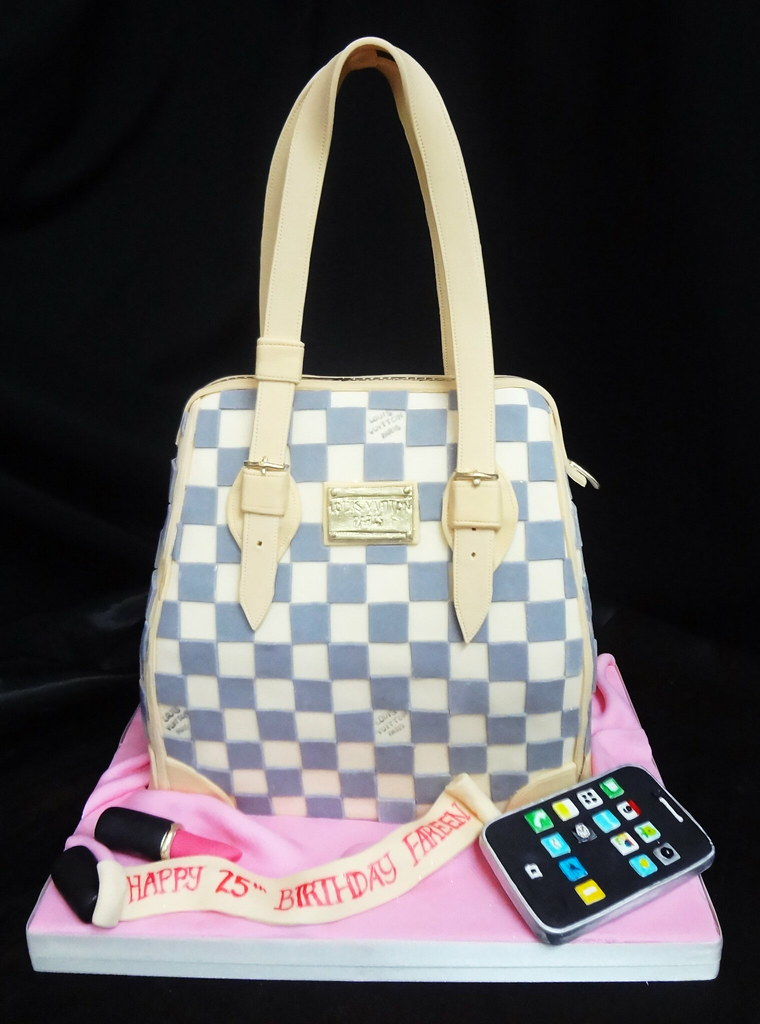 Cakeaters Edible Arts : Louis Vuitton purse cake Cakeaters Edible Art Flickr
