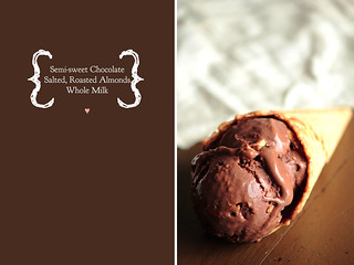 Chocolate Salted Almond Ice Cream | by pastryaffair