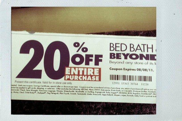 Got A 20 Off Entire Purchase Coupon From Bed Bath
