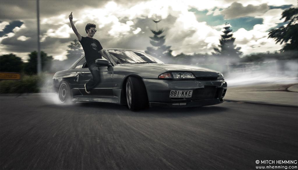 Skyline Drift Ii Having Some Fun With A Friends Car