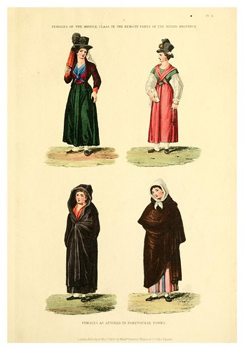 020-vestimentas de Portugal 2-Portugal illustrated in a series of letters-1829 | by ayacata7