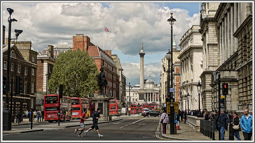 2012-05-16  wednesday london nelsons colum viewed down whitehall | by Steve75C