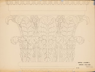 Capitals in the Hall of Columns drawing by Thomas U. Walter | by USCapitol