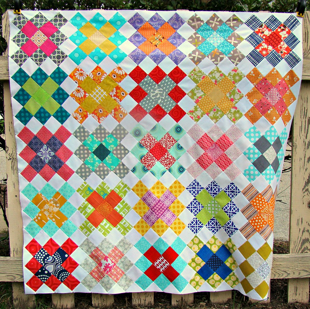 Granny Squares Quilt Top blogged here Jessica Kelly Flickr