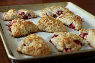 Strawberry Yogurt Scones | by Completely Delicious