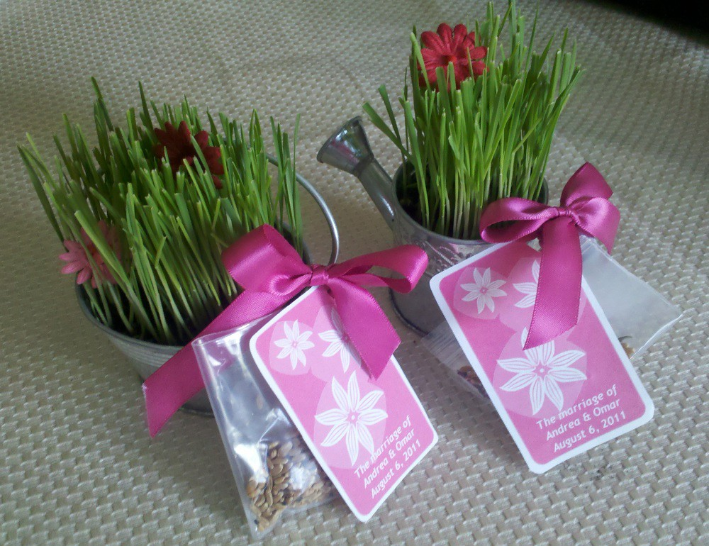 flower seed packets for wedding favors