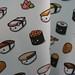 Sushi fabric by Kukubee (on organic sateen)