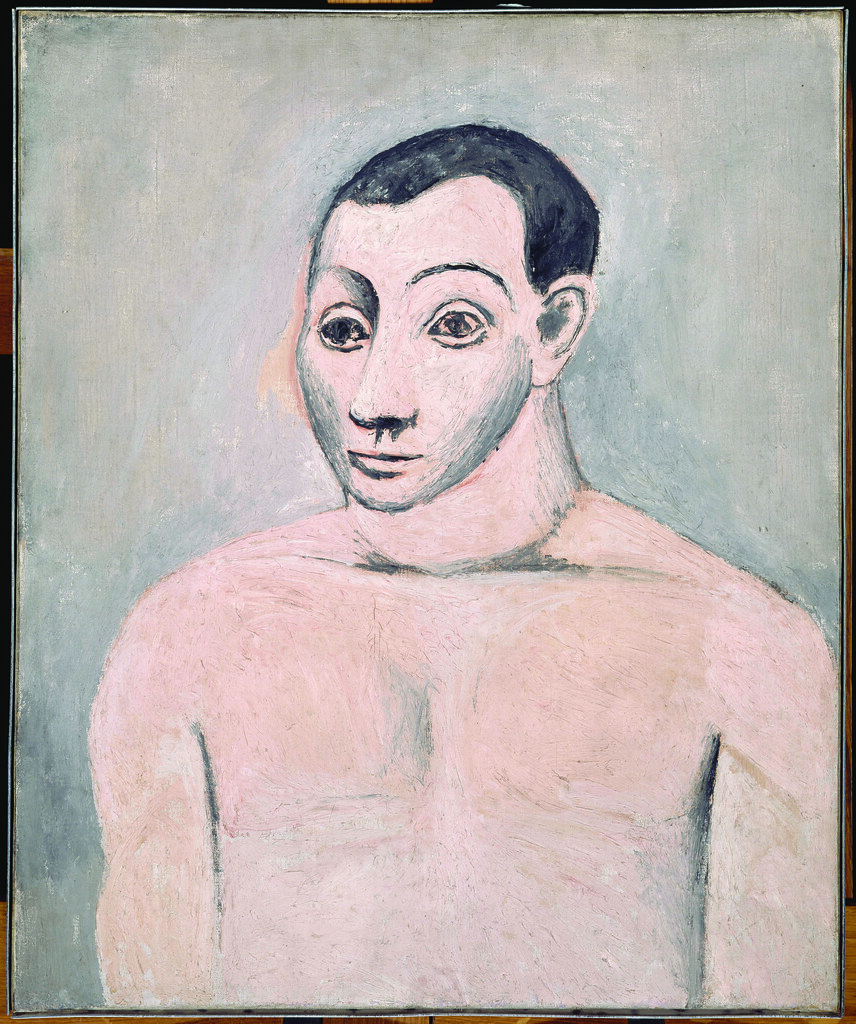 pablo picasso autoportrait self portrait oil on canvas. Black Bedroom Furniture Sets. Home Design Ideas