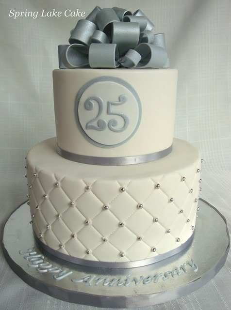Cake Design For 25th Anniversary : Silver Anniversary Cake Flickr - Photo Sharing!