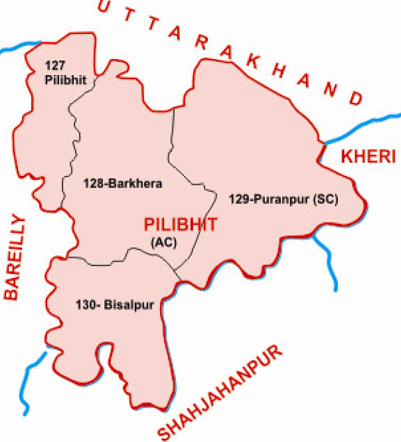 Pilibhit district Uttar Pradesh Election 2017