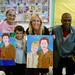 Rick and Ronda with mother and daughter in painting class