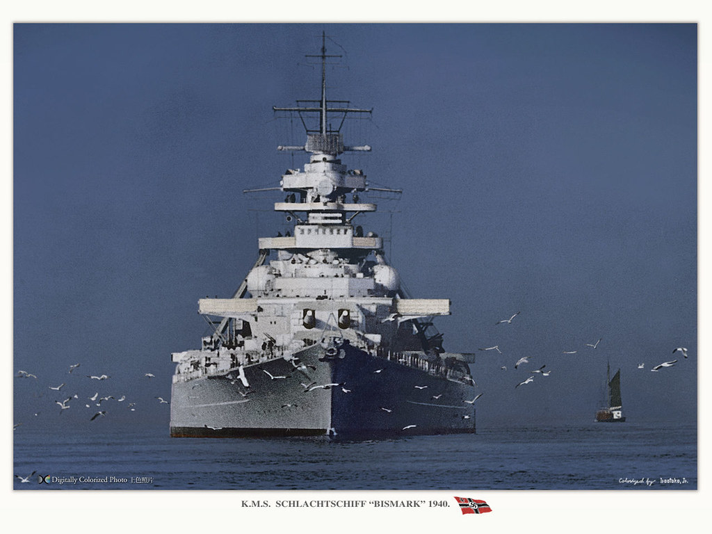 Bismarck A Very Impressive Bows On View Of The