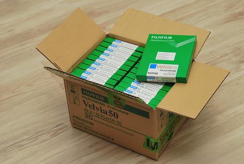 Velvia 100 4x5 Box of Velvia 50 Rvp50 4x5