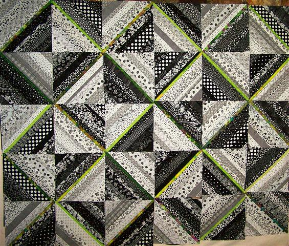 Black and White String Quilt | I always wondered why ...