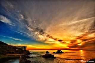 San Francisco Sutro Bath Sunset Color | by davidyuweb