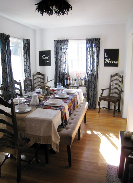 thanksgiving tabletop+dining room+tables with benches ...