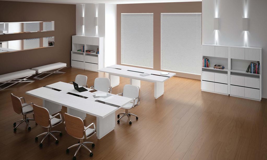mesa de reuni o vidro projeto k mobili rio corporativo