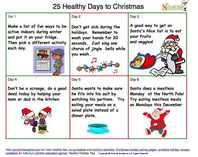 Safety Calendar Ideas : Countdown to christmas healthy kids calendar fun and