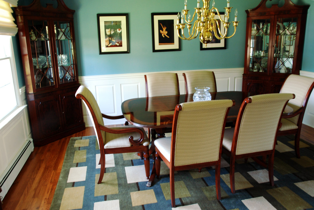 Wainscoting height dining