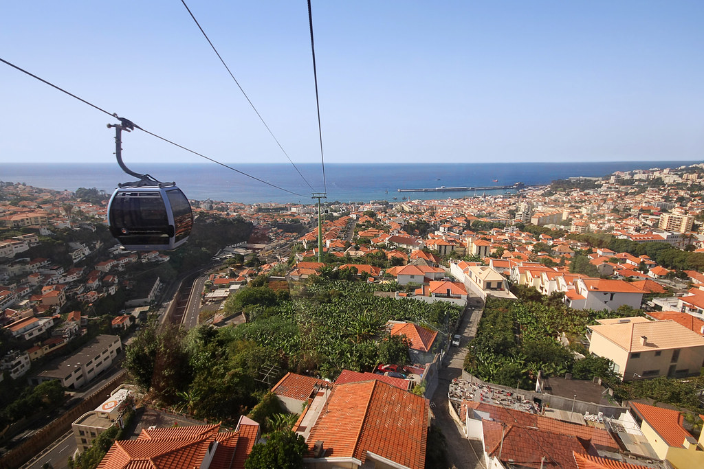 Cable Car Over Funchal Madeira Funchal S Passenger Ropewa Flickr