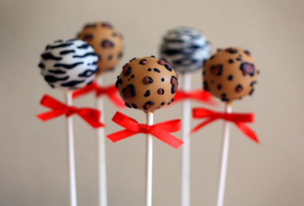 Cheetah Cake Pops