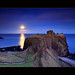 Moonrise Dunnottar Castle