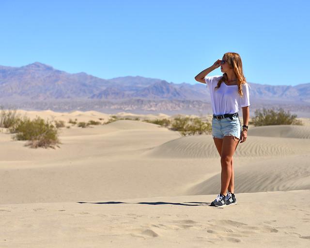 Desierto de dunas del Death Valley, uno de los lugares más importantes que ver en la Costa Oeste de Estados Unidos