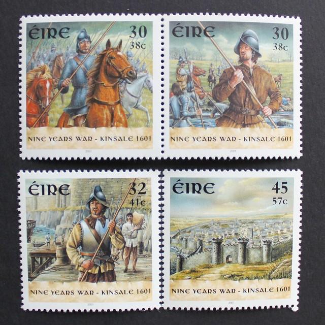 irish stamp nine years war battle of kinsale 1601