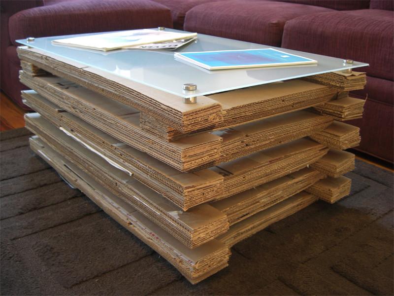 Cardboard Coffee Table - Home Design