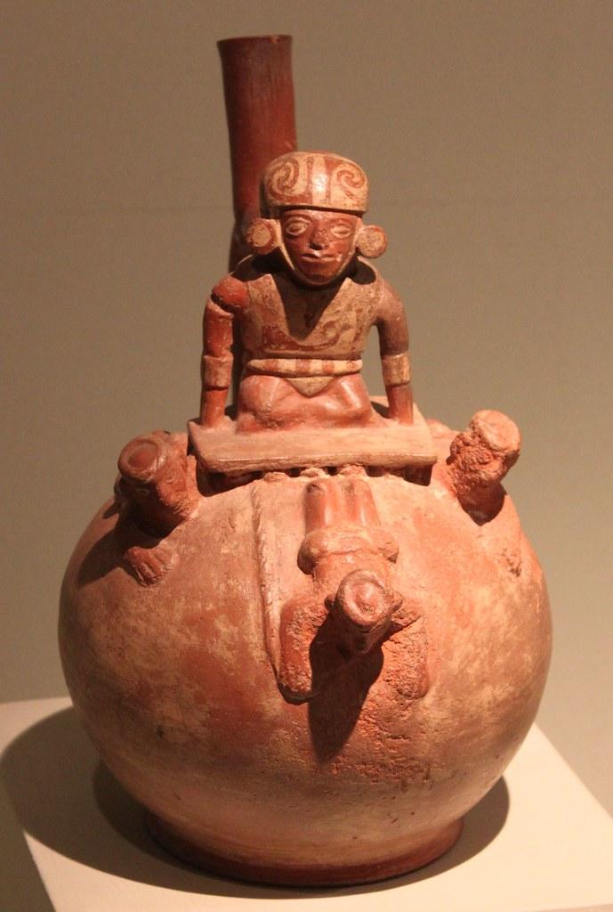 Moche Sculptural Stirrup Spout Bottle Moche Mochica