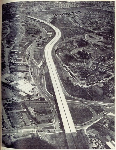 Army Street Circle interchange with US 101 (1951) | by Eric Fischer