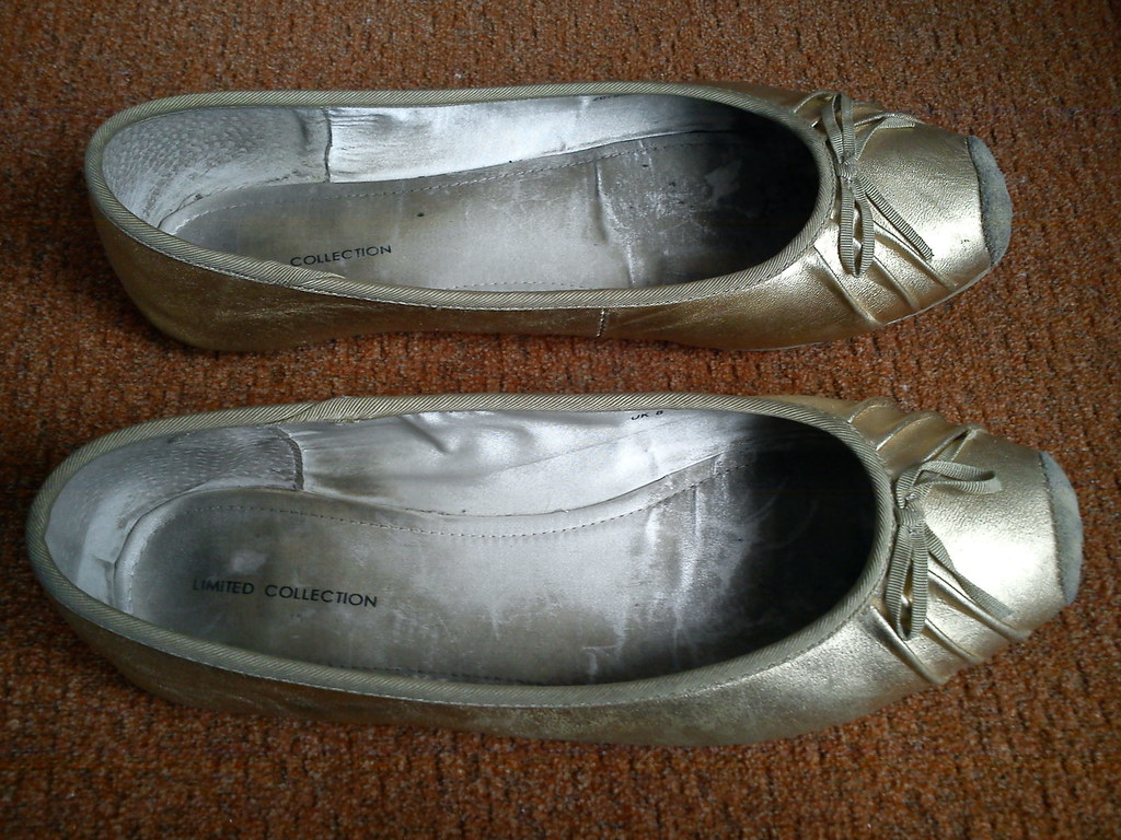 Gold Ballet flats limited collection | ninel1940