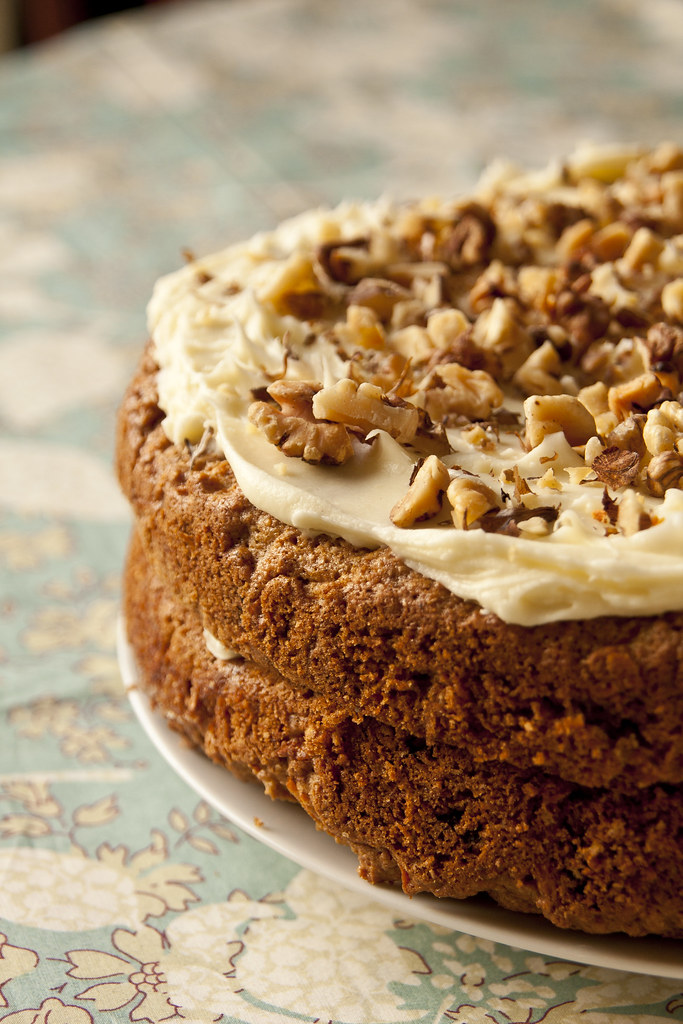 Carrot Cake With Sultanas And Walnuts