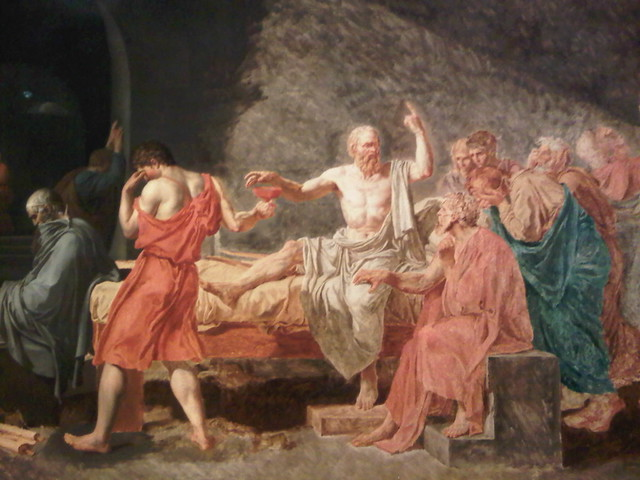 davids death of socrates and g essay Dialogues with death: we will return to this in the last section of this essay the cornerstone of socrates' positive attitude toward death is the.