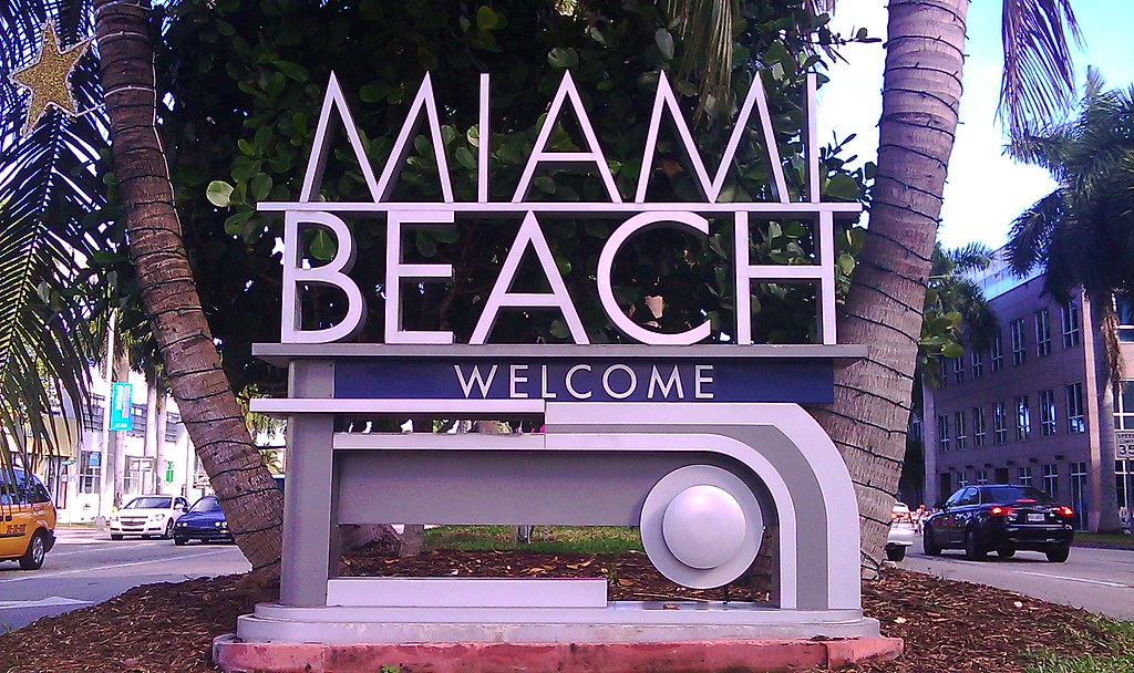 Miami Beach Welcome Sign Miami Beach Welcome Sign