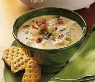Slow Cooker Cheesy Potato Soup Recipe | by Betty Crocker Recipes
