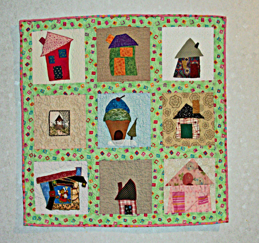 Wonky Homes Wall Quilt Wonky House Quilt Created From