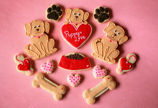 Valentines Day Puppy Love Cookies | by Bee'sKneesCreative