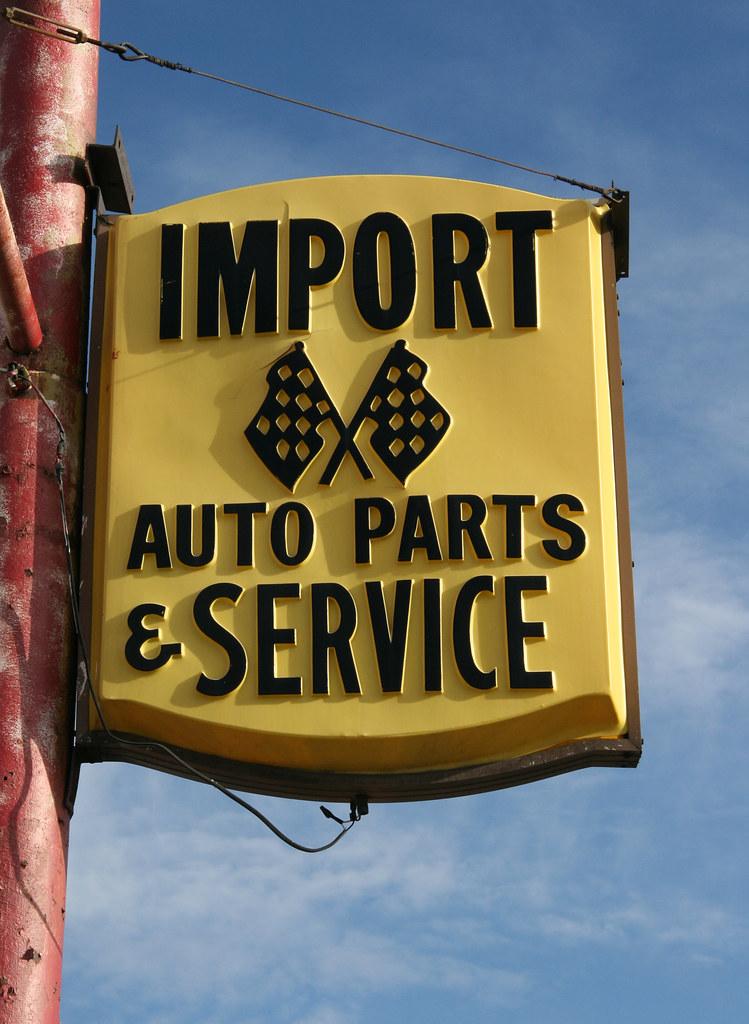 Import Auto Parts & Service Sign: Roseville, MI | Vacuform ...