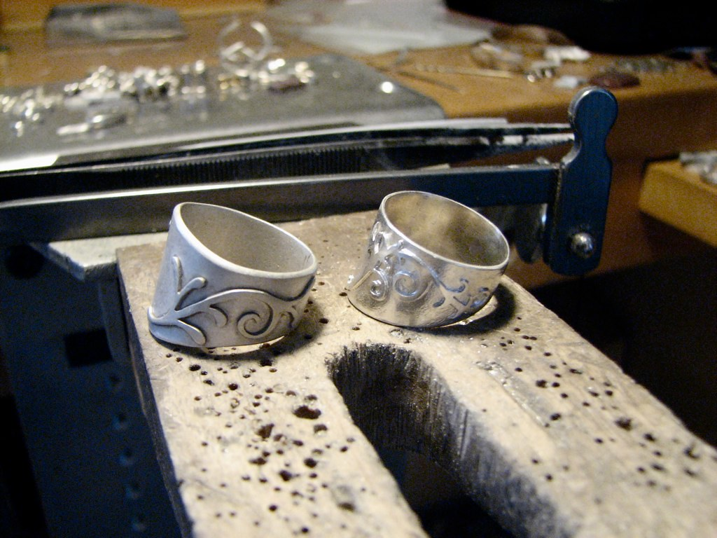 Rings Soldered With Gap