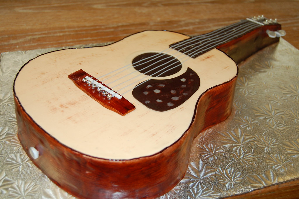 Acoustic Guitar Cake Images