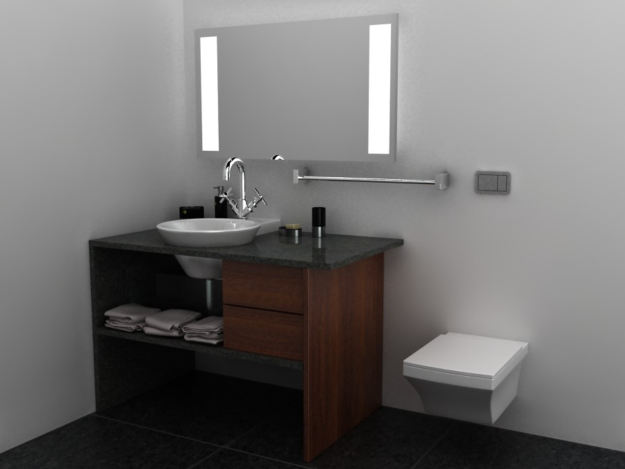 Dise o de mueble para lavabo empotrado bathroom design for Muebles de diseno