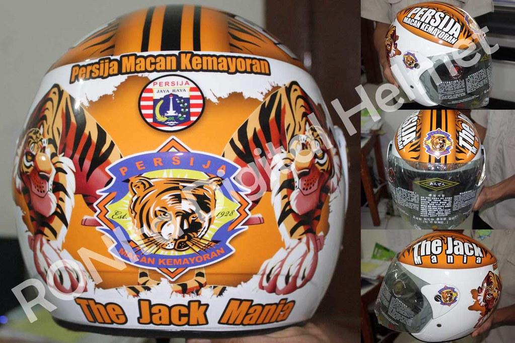 All Sizes Helm Custom The Jack Mania Persija Muke Gile Flickr