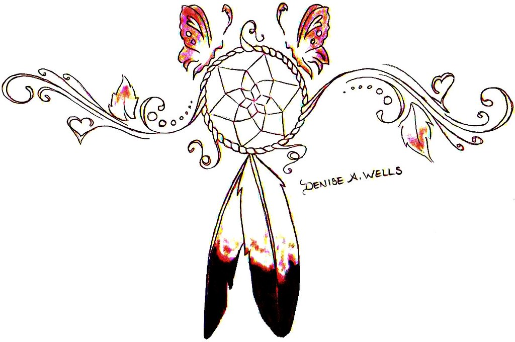 dreamcatcher tattoo design by denise a wells dreamcatcher flickr. Black Bedroom Furniture Sets. Home Design Ideas