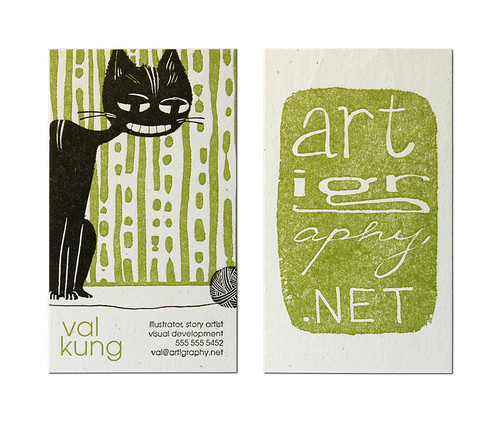 Val Kung Business Card | by Cranky Pressman