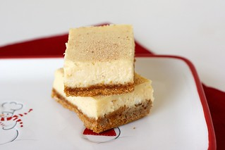 Eggnog Cheesecake Bars | by Tracey's Culinary Adventures
