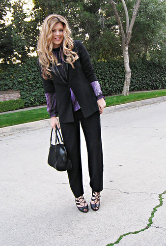 black vintage suit+gucci bag | by ...love Maegan
